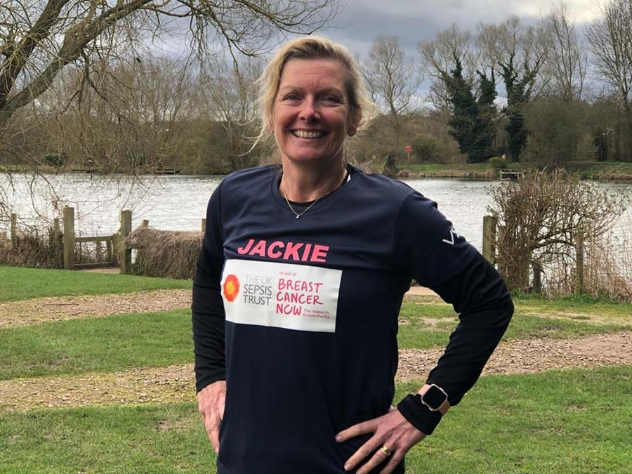 jackie running for charity