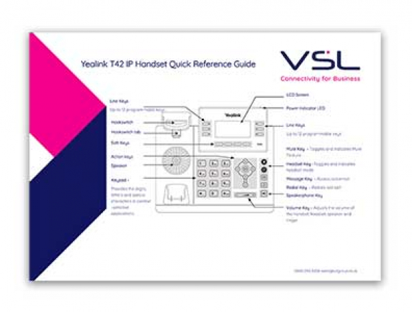 Yealink T42 Quick Reference Guide final
